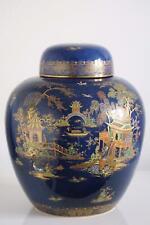 More details for carlton ware ginger jar - wiltshaw & robinson - mikado pattern - c.1920