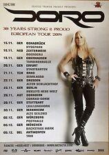 DORO  2014  TOUR - orig.Concert Poster -- Konzert Plakat  A1 NEU