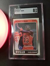 1988 Fleer #17 Michael Jordan SGC 8 NM-MT Card Chicago Bulls