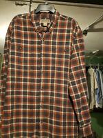 Duluth Trading Company Men's Plaid Free Swingin' Flannel L/S Shirt Size XL