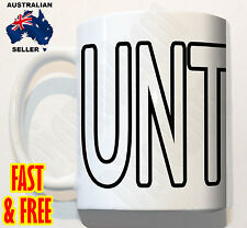 Novelty Rude UNT COFFEE MUG CUP Tea Gift birthday funny naughty