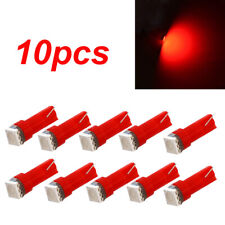 10x T5 Auto Car Gauge 5050 1SMD 12V LED Dashboard Dash Side Light Bulb Lamb Red