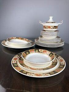 Art Deco ALFRED MEAKIN china CHANTREY Dinner Set 23 Piece Set c.1930's