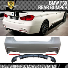 Fits 12-18 F30 335i M Performance Rear Bumper Cover Muffler Twin Quad Outlet PP