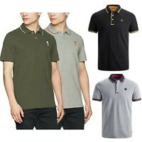 Jack and Jones Mens Short Sleeve Polo Shirt Casual Pique Plain Tee Tops