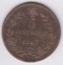 Italy 5 Centesimi 1867 N Vittorio Emanuelle ll