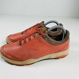 Ecco Biom Hybrid 3 Women's Golf Shoes Spiced Coral Gore-Tex Size 7 Extra Width