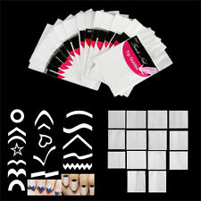 French Manicure Nail Art Tips Form Guides Stickers DIY Stencil 15Design Decor FG