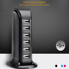 30W 6A 6 Port Desktop USB Rapid Charger Station Wall HUB Charging ON