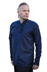 """Men's Medieval Shirt LARP Hippie Pirate 100% Cotton 6 Colours Chest Size 34""""-48"""""""