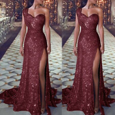 Women Glitter Sexy Wedding Cocktail Gown Party Prom Bridesmaid Dress New2020SPUK
