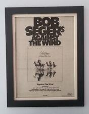 BOB SEGER*Against The Wind*1980*ORIGINAL*POSTER*AD*FRAMED*FAST WORLD SHIP