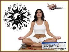 Sternzeichen Sonne Yoga Ying Yang Symbol  Wandtattoo Aufkleber Meditation A013