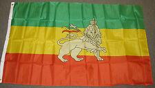 3X5 ETHIOPIA WITH LION FLAG ETHIOPIAN RASTAFARIAN F133