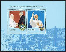 CUBA 1998 - GIOVANNI PAOLO II A CUBA, FOGLIETTO 2 VALORI