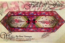 FIELD OF FIRE Table runner/placemats/napkins quilt pattern by Dana Verrengia
