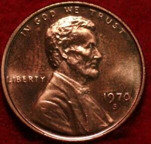 Uncirculated Red Proof 1970-S San Francisco Mint Lincoln Memorial Cent