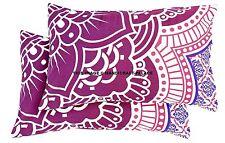 Pillow Sham Decorative Cotton Throw Indian Mandala Cushion Cover Home Decor 2 Pc