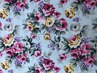 "Shabby Chic Roses Cotton. Great For Quilt, DIY. Good Quality. 64"" Wide . BTY"