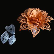 3D Flowers Leaves Stencil Metal Cutting Dies Scrapbooking Craft Dies Stamps and