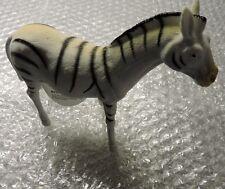"ZEBRA Safari Plastic Animal Pretend Play *Ages 5+ Size 5""H x 6.5""L"