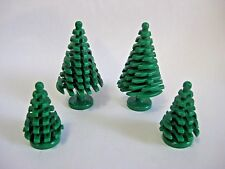 Lego PINE TREE LOT 4 pcs 2 Small and 2 Large Trees -Christmas trees- Forest NEW!
