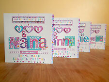 Mother's Day card Mum & Nana NAN GRANDMA GRAN NANNY GRAN Nanna Mothers day cards