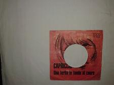 Tony Arden – Capriccio - Copertina Forata Per Disco Vinile 45 Giri