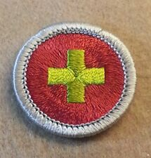 BSA FIRST AID Merit Badge Type H (SILVER BORDER) (72-02)   B00148