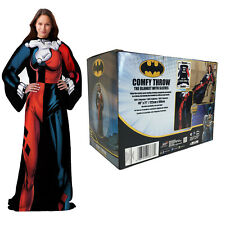 New Being Harley Quinn Adult Micro Rashel Comfy Throw Blanket with Sleeves