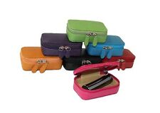 Leather Purse - Lipstick Holder & Mirror by Laurige - Various Colours