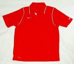 Nike men's polo shirt red size L short sleeve Dri-Fit