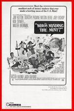 WHO'S MINDING THE MINT pressbook, Dorothy Provine, Milton Berle, Joey Bishop