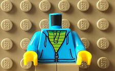 LEGO City Figur Körper Oberkörper offener Sweater Kette lila NEUWARE