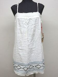 NEW Da-Nang Women' Dress Flowy Adjustable Beaded WHITE GAZ8951738 X-SMALL XS