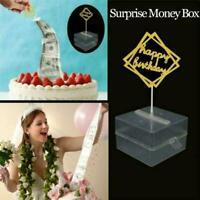 Cake ATM Surprise Birthday Cake Topper Money Box Cake ATM Happy Birthday R0Q3