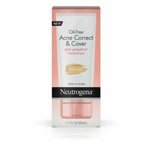 Neutrogena Make Up Oil-Free Fair To Light Acne Correct Cover Moisturizer1.7oz