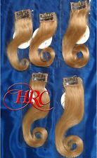 GOLDEN BLONDE JOSE EBER HIGH QUALITY 100% HUMAN HAIR EXTENSIONS 5 PIECE CLIP ON
