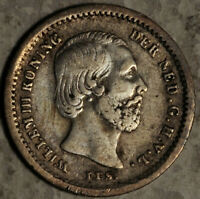 NETHERLANDS SILVER 5 CENTS 1850 (LOT #15)