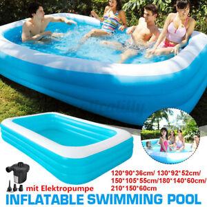 Aufblasbarer Schwimmbad Kinder Pool1.8m / 1.5m/1.3m/1.2m Familien Schwimmbecken