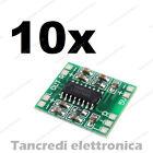 10x PAM8403 modulo Mini Amplificatore Audio Stereo Digitale 3W Digital amplifier