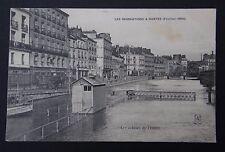CPA Carte postale NANTES Inondations 1904 Les écluses de l'Erdre Brasserie Bière