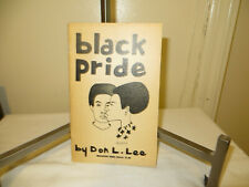 black pride by Don l.lee firs edition first printing book