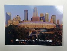 HHH METRODOME POSTCARD 4X6 FULL COLOR MINNESOTA TWINS AND MINNESOTA VIKINGS