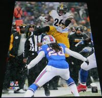 LE'VEON BELL SIGNED AUTOGRAPHED PITTSBURGH STEELERS HURDLE 16x20 PHOTO JSA