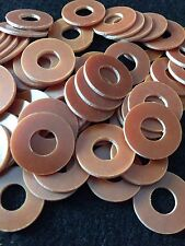 "100 Tattoo Machine Brown Coil Core Washers 5/16"" ID, 3/4"" OD"