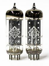 TELEFUNKEN EZ80 6V4 FOR Dynaco FM-3 McIntosh MR65 Amplifier Tube Pair