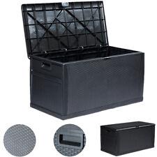 120 Gallon Imitation Rattan Outdoor Deck Box Storage Container Plastic Tool Box