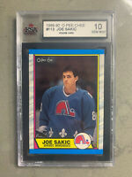 JOE SAKIC 1989-90 O-PEE-CHEE Rookie Card Graded KSA Gem Mint 10 + Free GIFT!