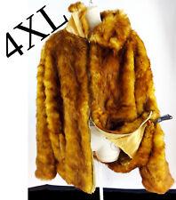 FOX fur hip hop pelt faux vegan red orange pimp XXXXL 4xl 90s rap men biggie